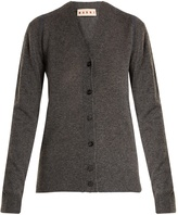 Marni Contrast-stitch V-neck cashmere cardigan
