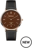 Barbour BB055BRBK Hartley Brown Leather Strap Mens Watch