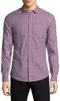 Armani Exchange Men's Optical Check Cotton Sportshirt