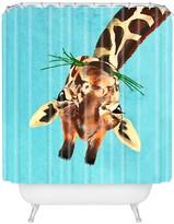 Deny Designs Coco De Paris Giraffe Upside Down Shower Curtain