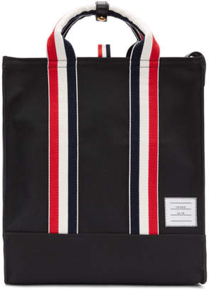 Thom Browne Black Grosgrain Stripe Unlined Tote