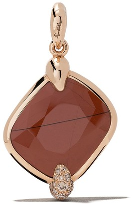Pomellato 18kt rose gold Ritratto red jasper and diamond pendant
