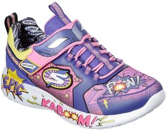 Skechers Girls Super Hero Trainer - Purple