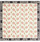 Gucci Floral-print Silk-twill Scarf - Ivory