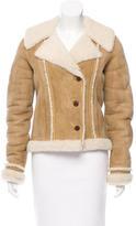 Balenciaga Fitted Shearling Jacket