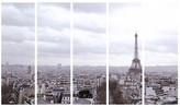 Bloomingdale's Art Addiction Inc. Paris Skyline w/Eiffel Tower 5–Piece Wall Art Set