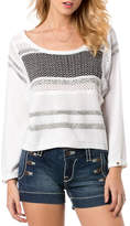 Miss Me White and Black Knit Sweater
