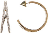 Vince Camuto Double Pave Band Hoop Earrings
