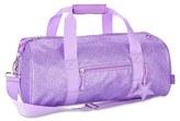 Bixbee Girl's 'Large Sparkalicious' Dance & Sports Duffel Bag - Purple