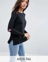 ASOS Tall ASOS TALL Sweater with Fangs Elbow Patch