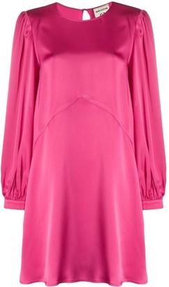 Semi-Couture Long-Sleeved Mini Dress