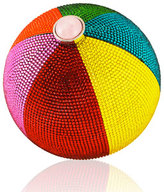 Judith Leiber Couture Beach Ball Sphere Crystal Clutch Bag, Multi