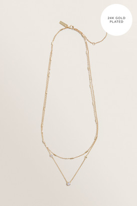 Seed Heritage Fine Layered Diamante Necklace
