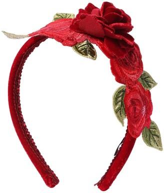 MonnaLisa Velvet Headband W/ Roses
