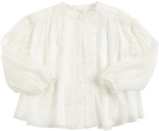 Chloé Lace Silk Crepe Shirt