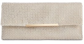 INC International Concepts Inc Hether Pearl Mesh Clutch, Created for Macy's