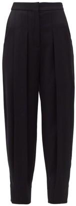 Stella McCartney Chelsea Cropped Wool Trousers - Black