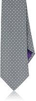 Ralph Lauren Purple Label MEN'S POLKA-DOT SILK NECKTIE-SILVER, GREY, NO COLOR