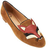 C. Wonder Fox Embroidered Suede Loafers- Carlotta