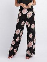 Charlotte Russe Floral Wide-Leg Pants