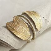Pier 1 Imports Golden Feather Napkin Ring