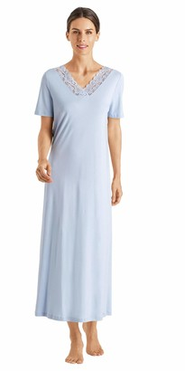 Hanro Women's Moments Short Sleeve Long Gown