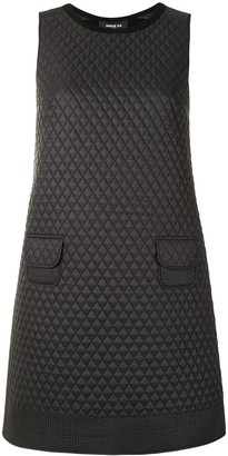 Paule Ka Diamond-Quilted Mini Dress