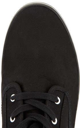 Topman Black Canvas Sneakers