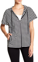 Lafayette 148 New York Hooded Stripe Tee