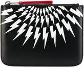 Neil Barrett lightning print wallet - men - Calf Leather - One Size