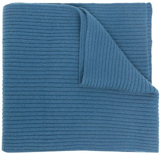 N.Peal Ribbed-Knit Cashmere Scarf