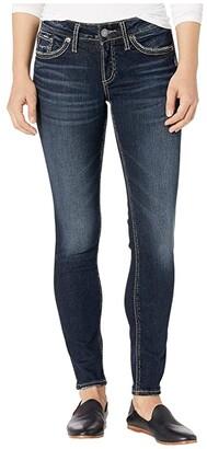 Silver Jeans Co. Suki Mid-Rise Curvy Fit Skinny Jeans L93136SDG458