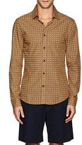 Orlebar Brown MEN'S OWEN ORBITAL-PRINT COTTON SHIRT