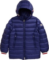 Moncler Roussilion Water Resistant Hooded Down Jacket