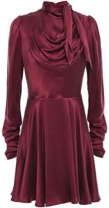 Zimmermann Draped Washed-silk Mini Dress