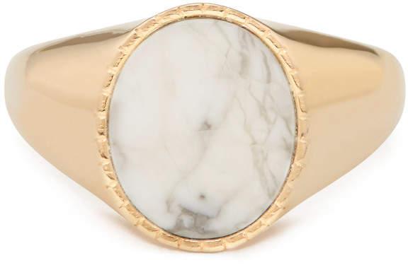Bond Eye Bondeye Jewelry Markle 14K Yellow-Gold Howlite Ring