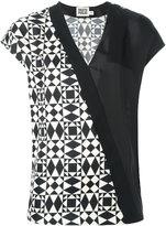 Fausto Puglisi wrap shortsleeved blouse