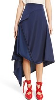 J.W.Anderson Women's Side Button Asymmetrical Skirt