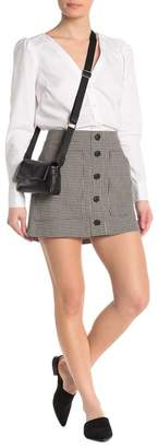 Veronica Beard Fisher Button Down Houndstooth Skirt