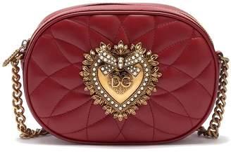 Dolce & Gabbana Camera Bag Devotion Leather Shoulder Bag