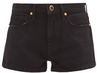 KHAITE Charlotte Mid-rise Denim Shorts - Black