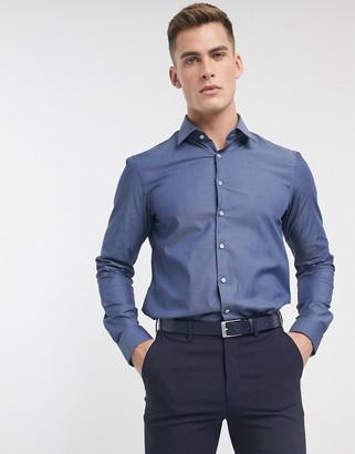 Calvin Klein poplin stretch slim fit shirt
