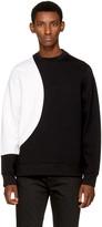 Diesel Black Gold Black & White Contrast Sweatshirt