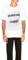Helmut Lang Crinkled Poly Print Jersey Tee
