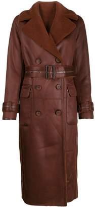 Urban Code Urbancode long faux-leather coat