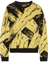 Sibling Paint Intarsia Wool Sweater - Yellow