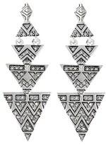 House Of Harlow 1960 Silver Crystal Drop Earrings.