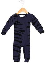 Mini Rodini Girls' Zebra Print All-In-One