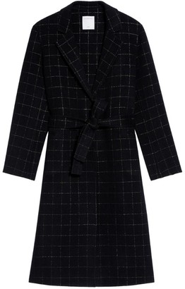 Sandro Wool-Blend Check Coat