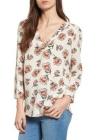 Hinge Women's Print V-Neck Top